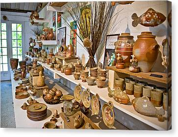 Pottery In La Borne Canvas Print by Oleg Koryagin
