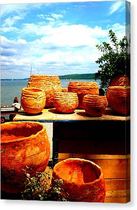 Pottery Market Diessen Canvas Print by The Creative Minds Art and Photography