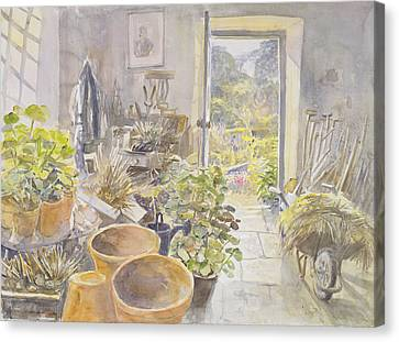 Potting Shed At La Forge De Buffon Wc Canvas Print by Tim Scott Bolton