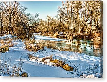 Poudre Dusk Canvas Print by Baywest Imaging