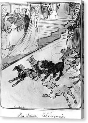 Poulbot Wedding Scene Canvas Print by Granger