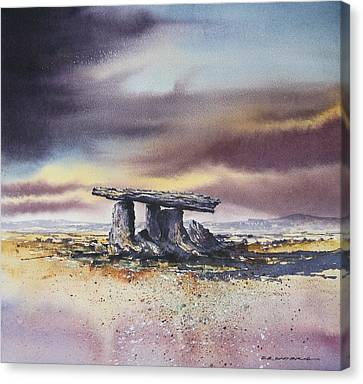 Canvas Print - Poulnabrone Portal Tomb by Roland Byrne