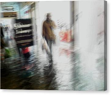 Canvas Print featuring the photograph Pounding The Pavement by Alex Lapidus
