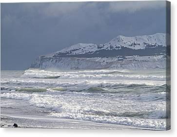 Pounding Waves Canvas Print by Tim Grams
