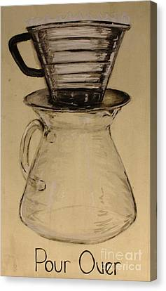 Pour Over Canvas Print by Nicole Wilcox