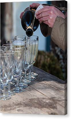 Pouring Champagne Canvas Print by Frank Gaertner