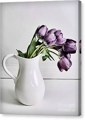Pouring Purple Canvas Print