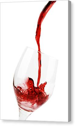 Pouring Red Wine Canvas Print by Chevy Fleet