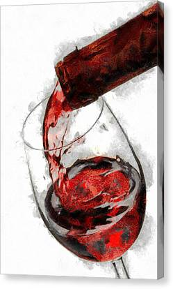 Pouring Red Wine Canvas Print by Georgi Dimitrov