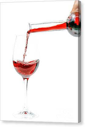 Pouring Wine Canvas Print - Pouring Red Wine by Patricia Hofmeester