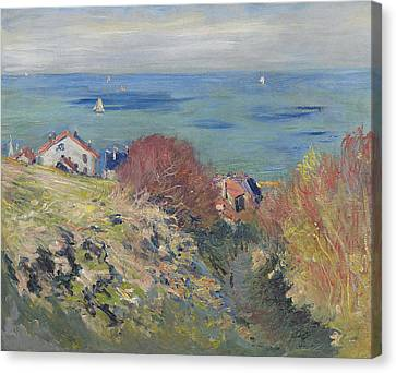 Looking To The Sky Canvas Print - Pourville by Claude Monet