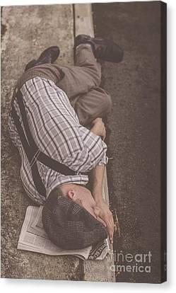 Poverty Stricken Newspaper Boy Canvas Print by Jorgo Photography - Wall Art Gallery