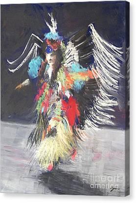 Pow Wow 2 Canvas Print by Yoshiko Mishina