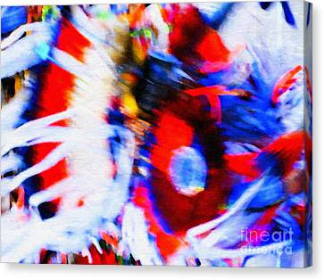 Pow Wow Abstract Canvas Print