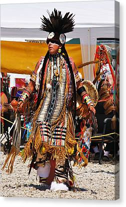 Pow Wow Dancer Canvas Print by Al Fritz