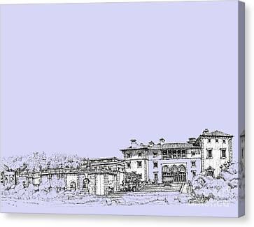 Powder Blue Vizcaya Museum  Canvas Print