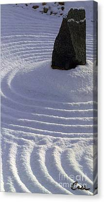 Powder In Zen One Canvas Print by Feile Case