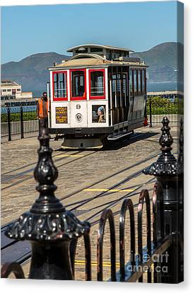 Powell And Market Trolley Canvas Print