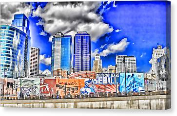 Power And Light District South Wowc Canvas Print by Kevin Anderson