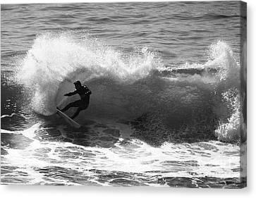 Power Carve Surfer Photo Canvas Print by Paul Topp