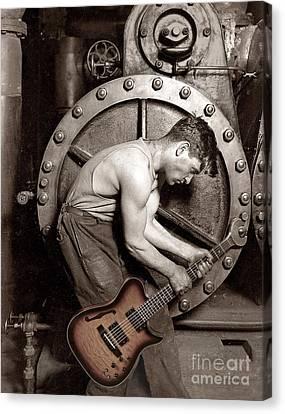Power Chord Mechanic Canvas Print by Martin Konopacki