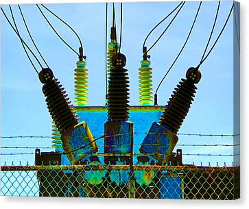 Electrical Wires Canvas Print