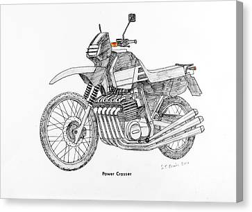 Transmission Canvas Print - Power Crosser by Stephen Brooks