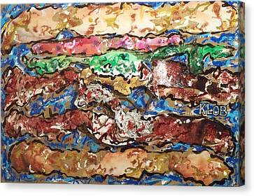 Power Double Cheeseburger  Canvas Print by Kevin OBrien