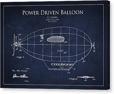 Power Driven Balloon Patent Canvas Print by Aged Pixel