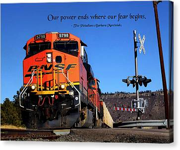 Power Ends Canvas Print by Mike Flynn