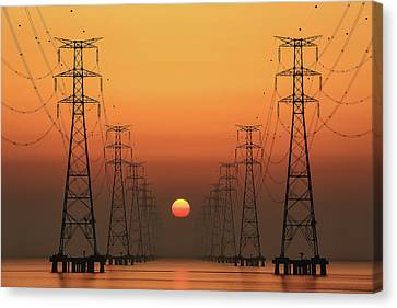 Power Line Canvas Print