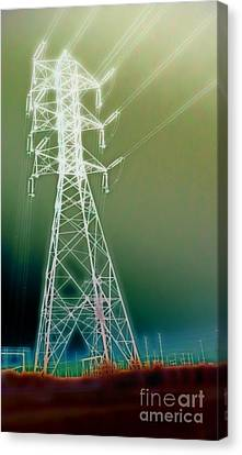 Power Lines Canvas Print by Gregory Dyer