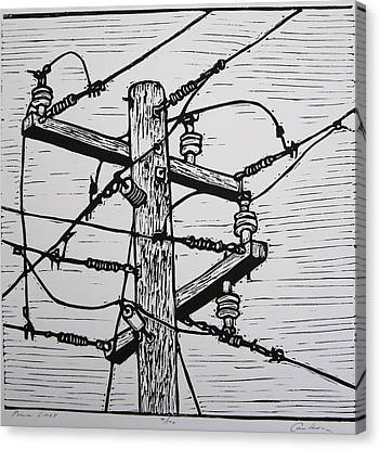 Power Lines Canvas Print by William Cauthern