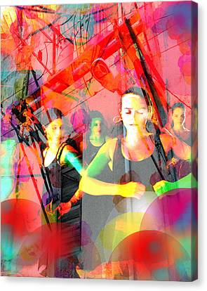 Power Of Cuba   Flamenco Canvas Print