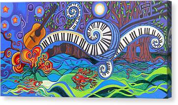 Power Of Music II  Canvas Print by Genevieve Esson