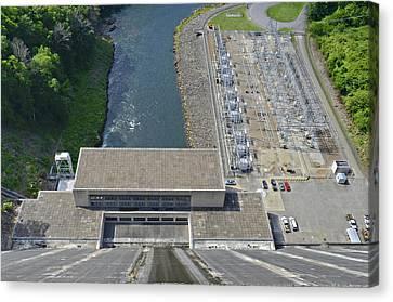 Power Plant Below Dam Canvas Print by Susan Leggett