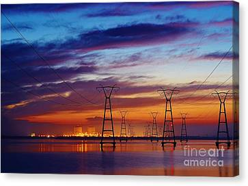 Power Plant On The Rise Canvas Print by Lynda Dawson-Youngclaus
