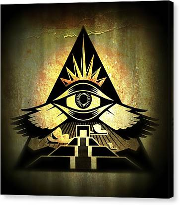 Astral Canvas Print - Power Pyramid by Milton Thompson