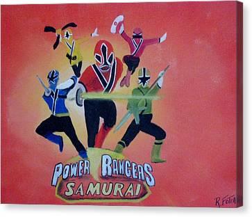 Power Rangers Samurai Canvas Print by Rich Fotia