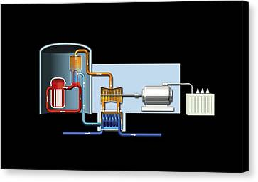 Power Station, Artwork Canvas Print by Science Photo Library