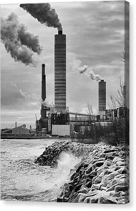 Canvas Print featuring the photograph Power Station by Ricky L Jones
