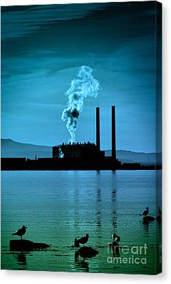 Power Station Silhouette Canvas Print
