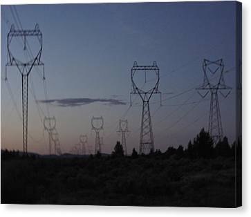 Canvas Print featuring the photograph Power Towers by Cheryl Perin