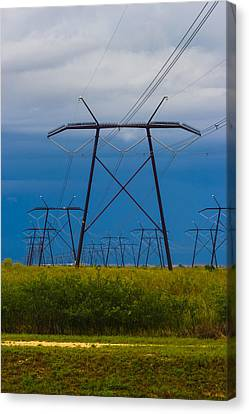 Power Towers Canvas Print by Ed Gleichman
