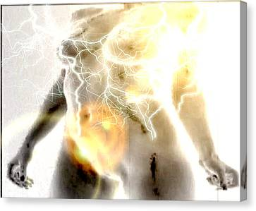 Power Woman Canvas Print by Beto Machado