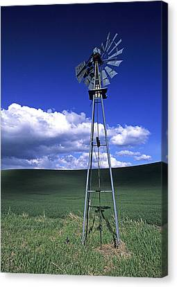Contour Farming Canvas Print - Powered Down by Latah Trail Foundation