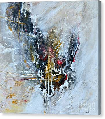 Canvas Print featuring the painting Powerful - Abstract Art by Ismeta Gruenwald