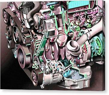 Powerful Car Engine  Canvas Print by Lanjee Chee