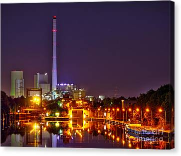 Powerhouse In A Sea Of Lights Canvas Print