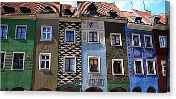 Poznan Town Houses Canvas Print